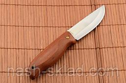 Нож охотничий с цельным клинком, мощная сталь, красное дерево, фото 3
