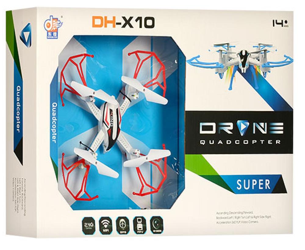 Квадрокоптер dh861-x10, разные цвета, в коробке, без камеры