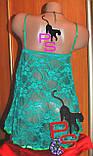 """Восхитительный изумрудный пеньюар """"Изабелла""""4884 с твердой чашкой 082021, фото 5"""