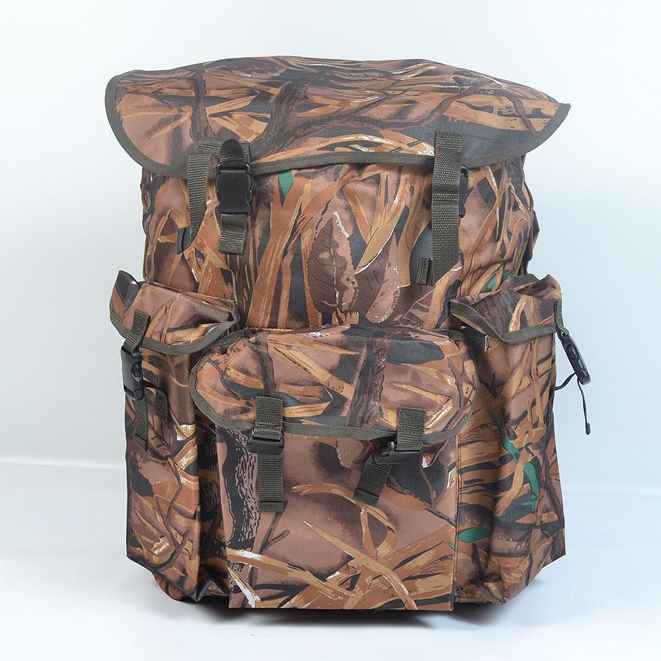 Вмістимий камуфляжний  туристичний  рюкзак  на  75л(Очерет)