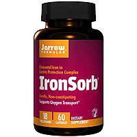 Железо повышенной усваиваемости, Jarrow Formulas, IronSorb, 18 мг, 60 овощных капсул