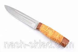 Нож охотничий Буйвол с рукоятью из бересты с кожаным чехлом  + эксклюзивные фото, фото 2