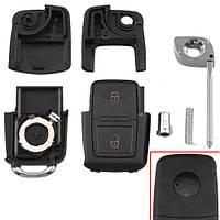 Викидний ключ запалювання, заготівля корпус під чіп, 2 кнопки, VW