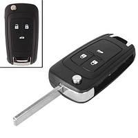Викидний ключ запалювання, заготівля корпус під чіп, 3 кнопки, Chevrolet