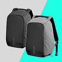 Рюкзак школьный для мальчика антивор, портфель в школу черный серый с защитой от карманников
