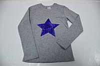 Реглан с пайетками звезда 110