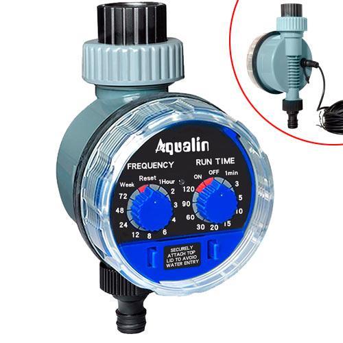 Таймер полива с шаровым клапаном Aqualin YL21025A под датчик дождя