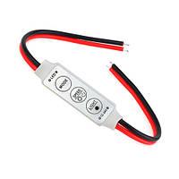 Контролер диммер 1к LED стрічок, 12-24В, 6А