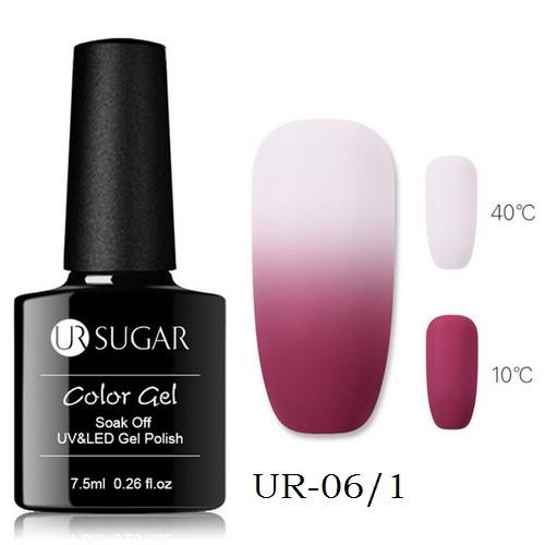 Термо гель-лак для нігтів манікюру термолак 7.5 мл UR Sugar, UR-06/1