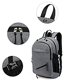 Рюкзак с сеткой для мяча серый, фото 2