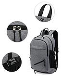 Рюкзак з сіткою для м'яча сірий, фото 2