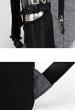 Рюкзак з сіткою для м'яча сірий, фото 6