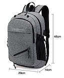 Рюкзак с сеткой для мяча серый, фото 8