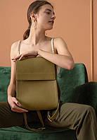 Рюкзак кожаный женский оливковый TW-Tammy-olive