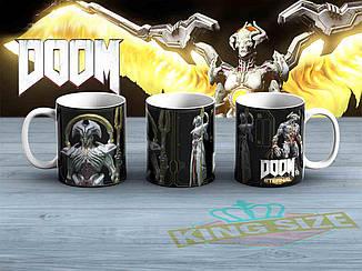 """Большая чашка DOOM  """"Монстр""""  870мл Дум"""
