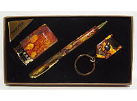 Подарочный набор NOBILIS зажигалка+ручка+брелок-фонарик алPN3-53-4