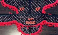 Штори преміум в кабіну DAF XF ДАФ лобове скло-1 і бічні-2 екошкіра, фото 1