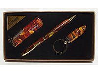 Подарочный набор NOBILIS зажигалка+ручка+брелок-фонарик алPN3-53-5