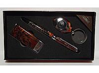 Подарочный набор EGLANTINE зажигалка+ручка+брелок-фонарик алPN3-48