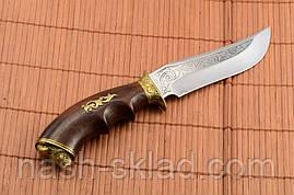 Нож для охотника Кабан, сделано в Украине ручная работа, кожаный чехол и паспорт в комплекте, фото 2