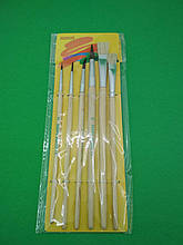 Набор кисточек для рисования  (6шт) тм.Пегашка (1 пач)