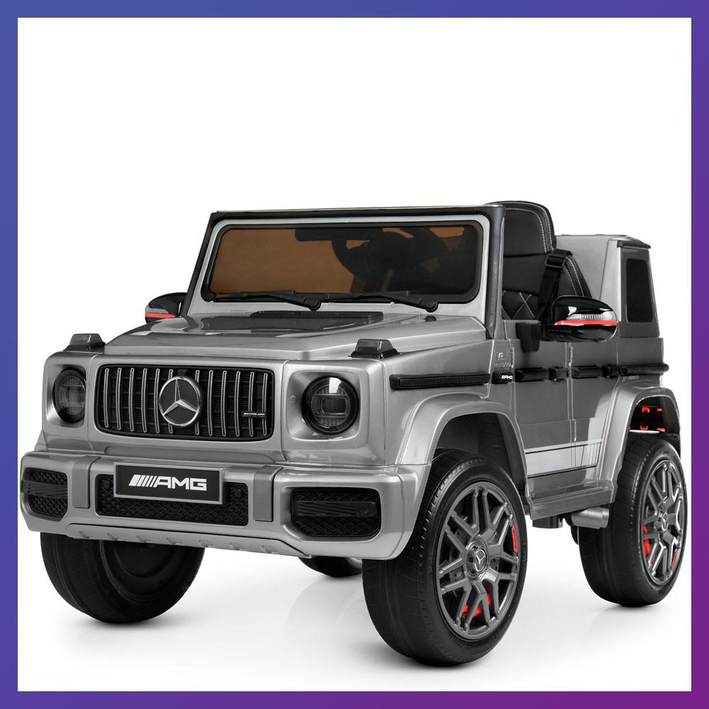 Дитячий електромобіль на акумуляторі Джип Mercedes M 4180 з пультом р/у для дітей 3-8 років автопокраска сірий