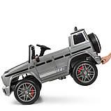 Дитячий електромобіль на акумуляторі Джип Mercedes M 4180 з пультом р/у для дітей 3-8 років автопокраска сірий, фото 5
