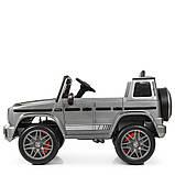 Дитячий електромобіль на акумуляторі Джип Mercedes M 4180 з пультом р/у для дітей 3-8 років автопокраска сірий, фото 7