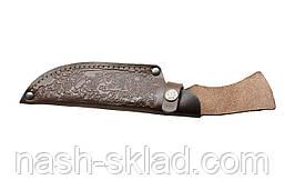 Нож охотничий Крокодил, ручная работа, кожаный чехол в комплекте, фото 3