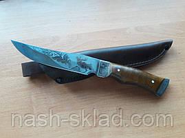 Нож охотничий Лось (Ручная работа), кожаный чехол в комплекте, фото 2