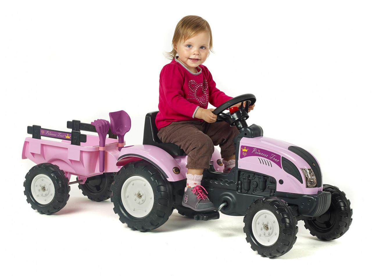 Трактор на педалях Princes FALK 2056C с прицепом