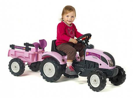 Трактор на педалях Princes FALK 2056C с прицепом, фото 2
