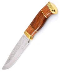 Нож охотничий ручной работы Тигр элитный, кожаный чехол в комплекте + эксклюзивные фото, фото 2