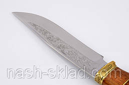 Нож охотничий ручной работы Тигр элитный, кожаный чехол в комплекте + эксклюзивные фото, фото 3