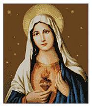Алмазная мозаика Непорочное сердце Марии, 40х50 Strateg (FA10134)
