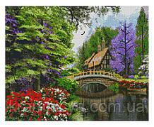 Алмазная мозаика Старинный дом с мостиком, 40х50 Strateg (FA10146)