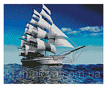 Алмазная мозаика Белоснежные паруса, 40х50 Strateg (FA10595)