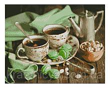 Алмазная мозаика Завтрак с макарунами, 40х50 Strateg (FA12225)