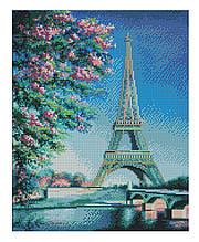 Алмазная мозаика Весна в Париже, 40х50 Strateg (FA20153)