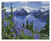 Алмазная мозаика Альпийский горный пейзаж, 40х50 Strateg (FA40096)