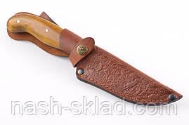Нож охотничий ручной работы Щука с кожаным чехлом + эксклюзивные фото, фото 3
