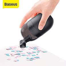 Пылесос мини Baseus Desktop Capsule Vacuum Cleaner C2 Black 1000Pa (CRXCQC2-01) работает от батареек типа AA, фото 3