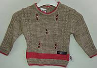 Свитер вязанный для девочки 80-86-92-98