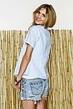 Стильная рубашка с коротким рукавом в клеточку, фото 4