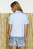 Стильна сорочка з коротким рукавом в клітинку, фото 3