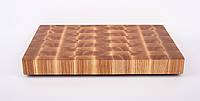 Кухонная торцевая разделочная доска 19х24х3 см из ясеня 3002, фото 1