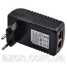 Адаптер PoE інжектор живлення камер RJ45 48В 0.5 А