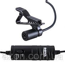 Петличний електретний конденсаторний мікрофон Boya BY-M1 3,5 мм з перехідником, копія