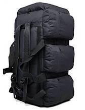 Сумка-рюкзак тактична xs-90l3 чорна, 90 л