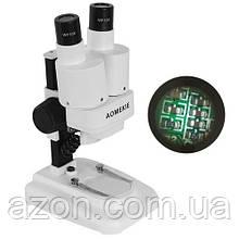 Мікроскоп бінокулярний стерео для пайки LED 20X AOMEKIE AO1001